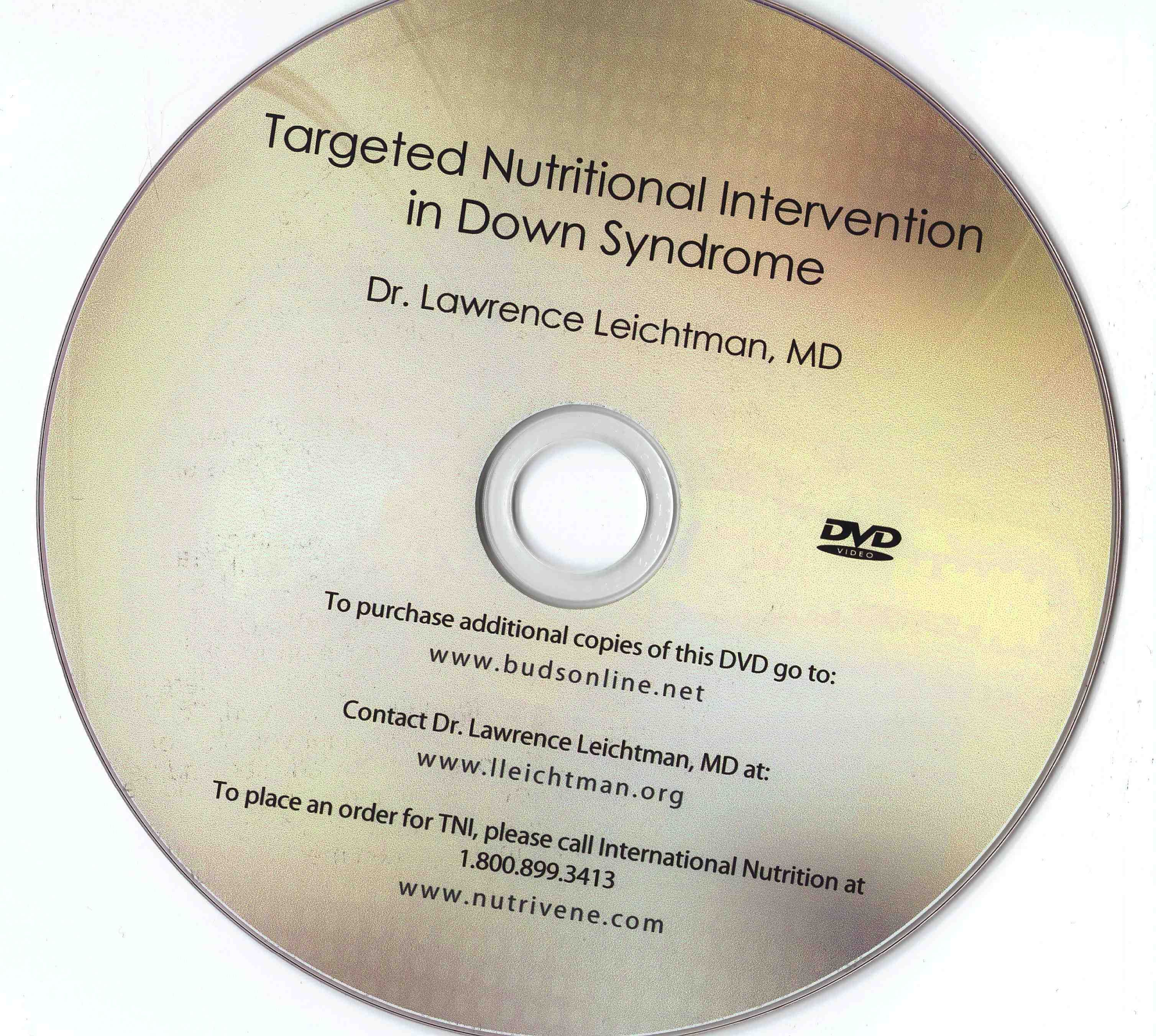 Dr Lawrence Leichtman Md S Dvd On The Biochemical