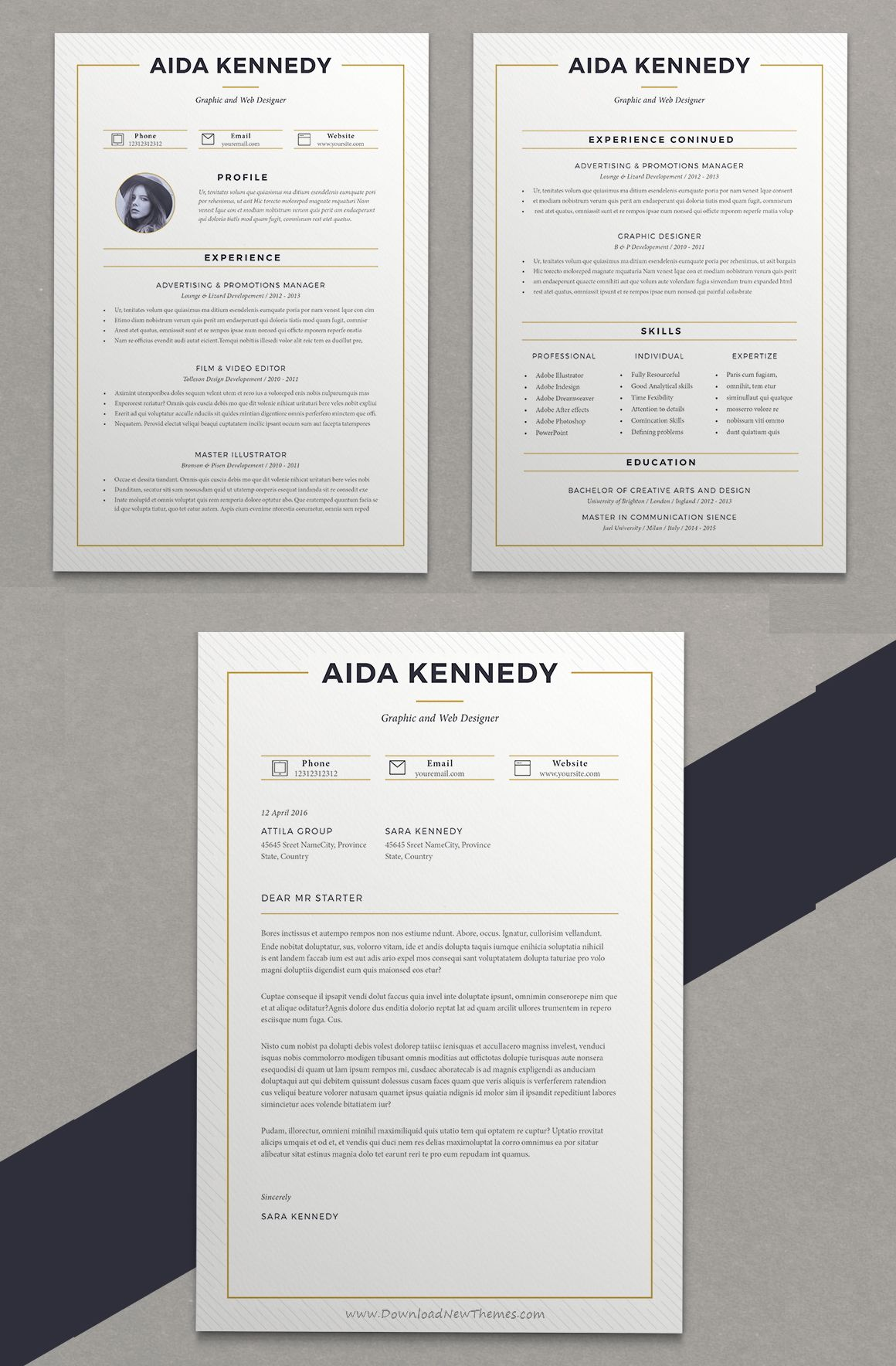 wonderful 2 page professional resume template with cover letter download in microsoft word cs5 indesign pdf format resumetemplate cv