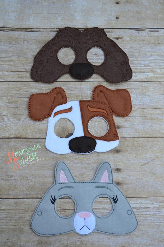 Secret Life Of Pets Mask Halloween Costume Chloe Max Duke Dog
