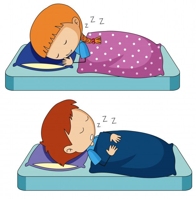 Download Boy And Girl Sleeping On Bed For Free Girl Sleeping Cute Girl Illustration Bed Vector