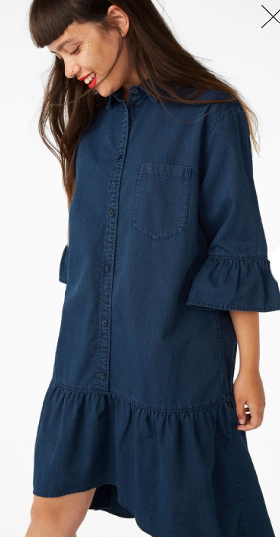 Monki denim dress organic cotton