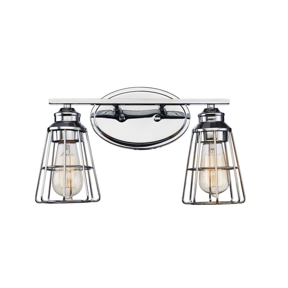 Bel Air Lighting 8 In 2 Light Polished Chrome Vanity Light Vanity Lighting Bel Air Lighting Bathroom Vanity Lighting