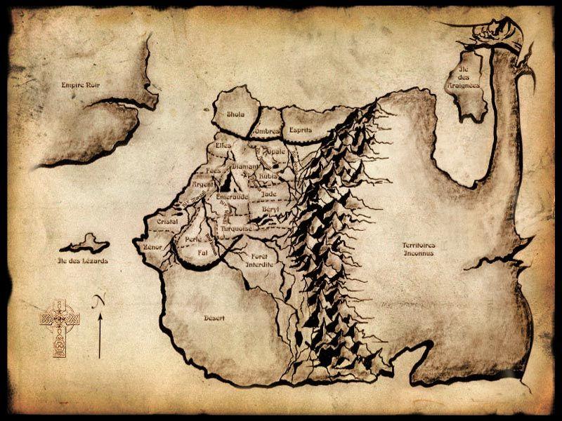 Unity Line Art Map : Carte d enkidiev dans le livre les chevaliers émeraude knights