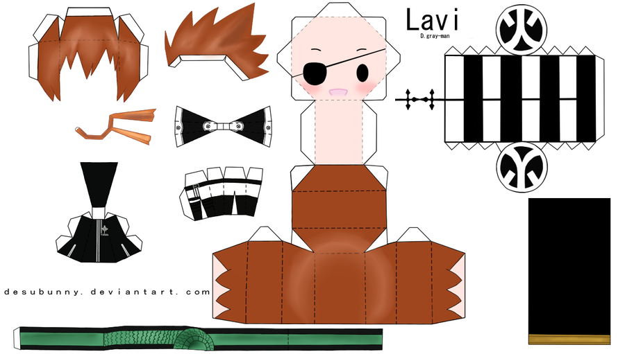 Anime Papercraft Templates | Chibi Lavi Papercraft by tsunyandere on deviantART