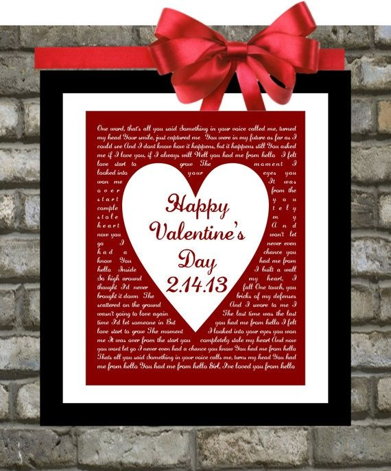 valentines day gifts for him or for her songprintsinspired, Ideas