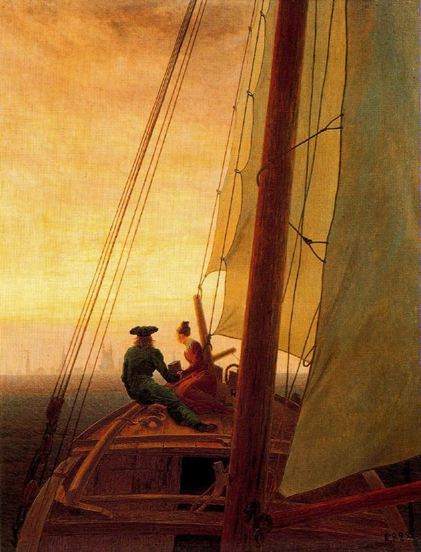 Caspar David Friedrich A bordo de un velero (1820)