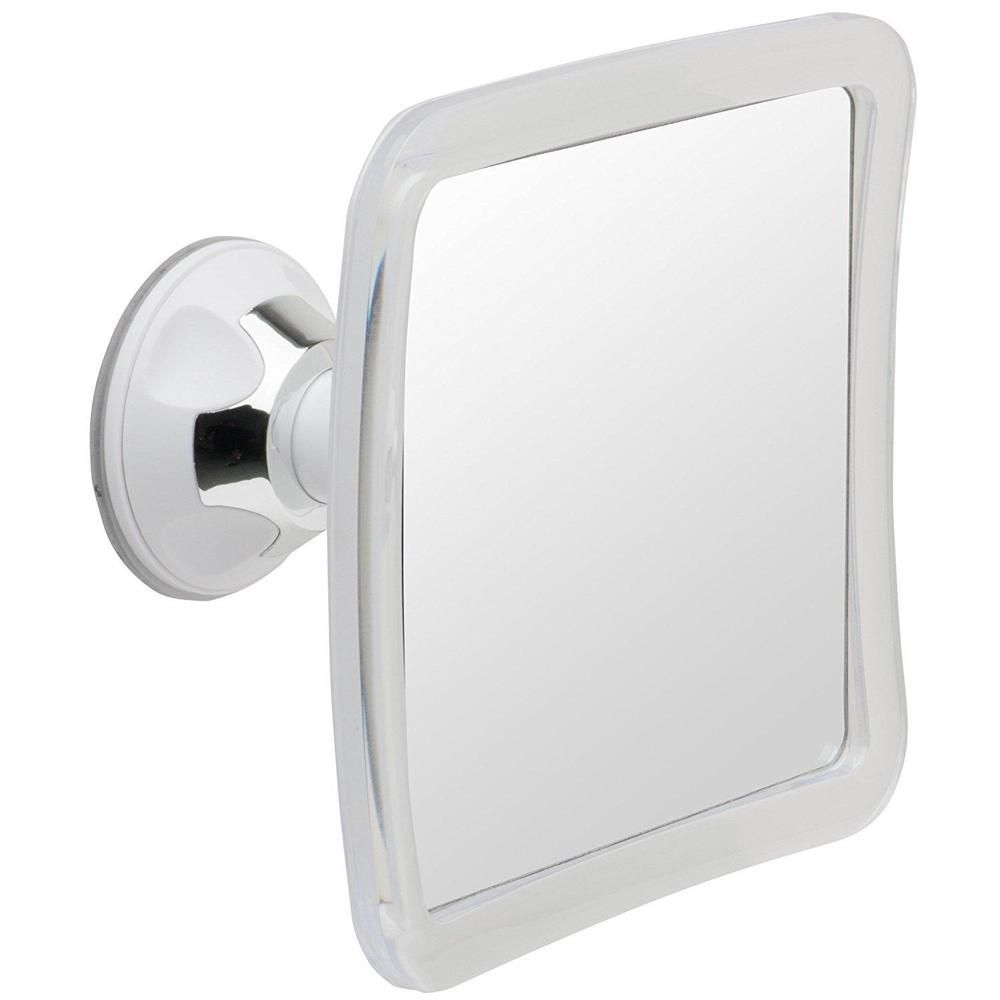 Shower Mirror Fogless Lock Suction Cup Compact Shave Adjustable