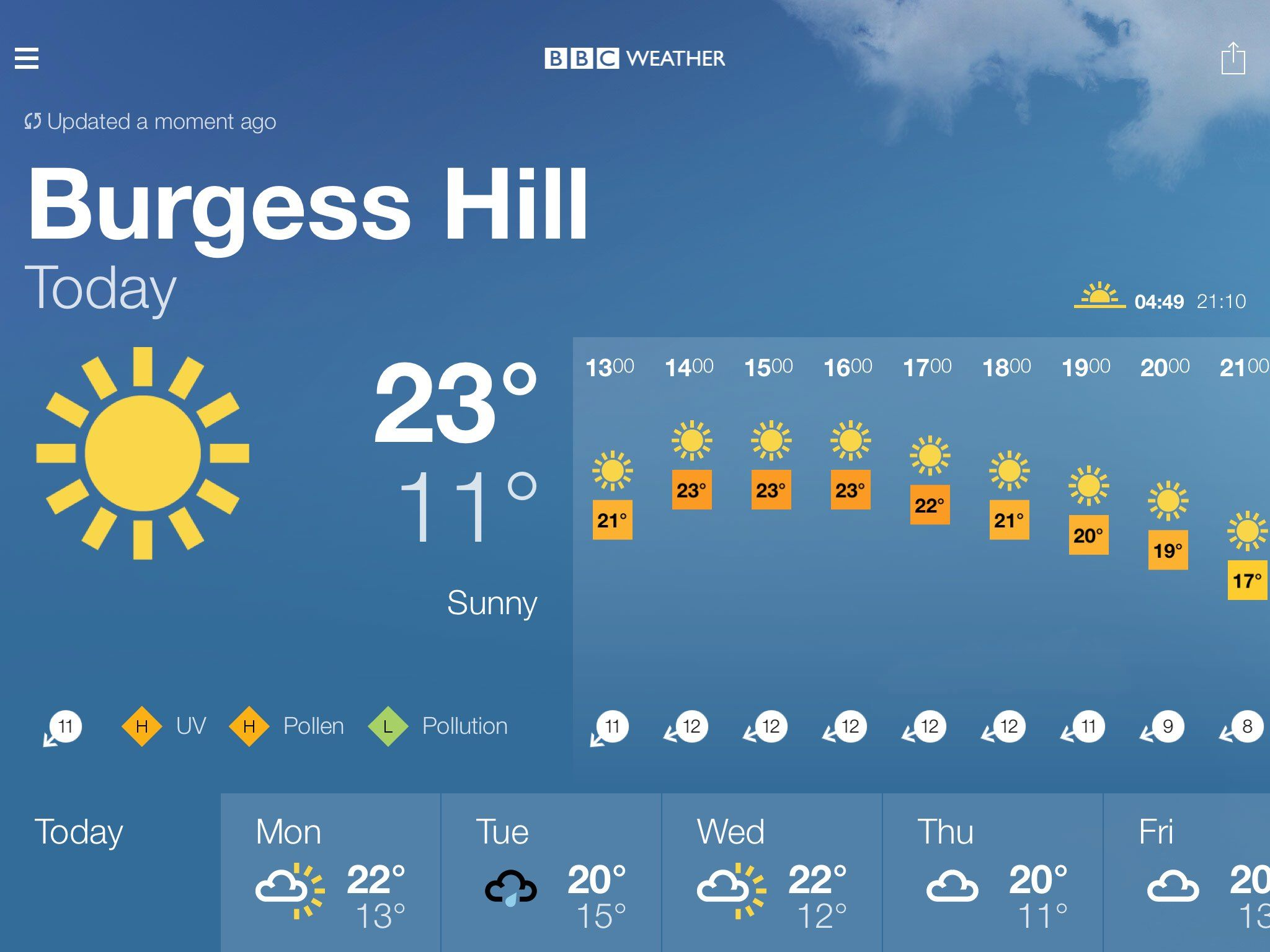 Bbc weather - Bbc Weather Forecast For Burgess Hill West Sussex Today Sunny Max 23