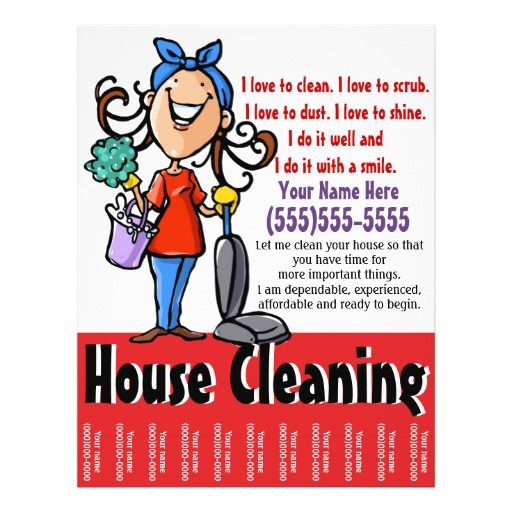 House Cleaning Marketing Flyer  Cleaning House And Cleaning Business