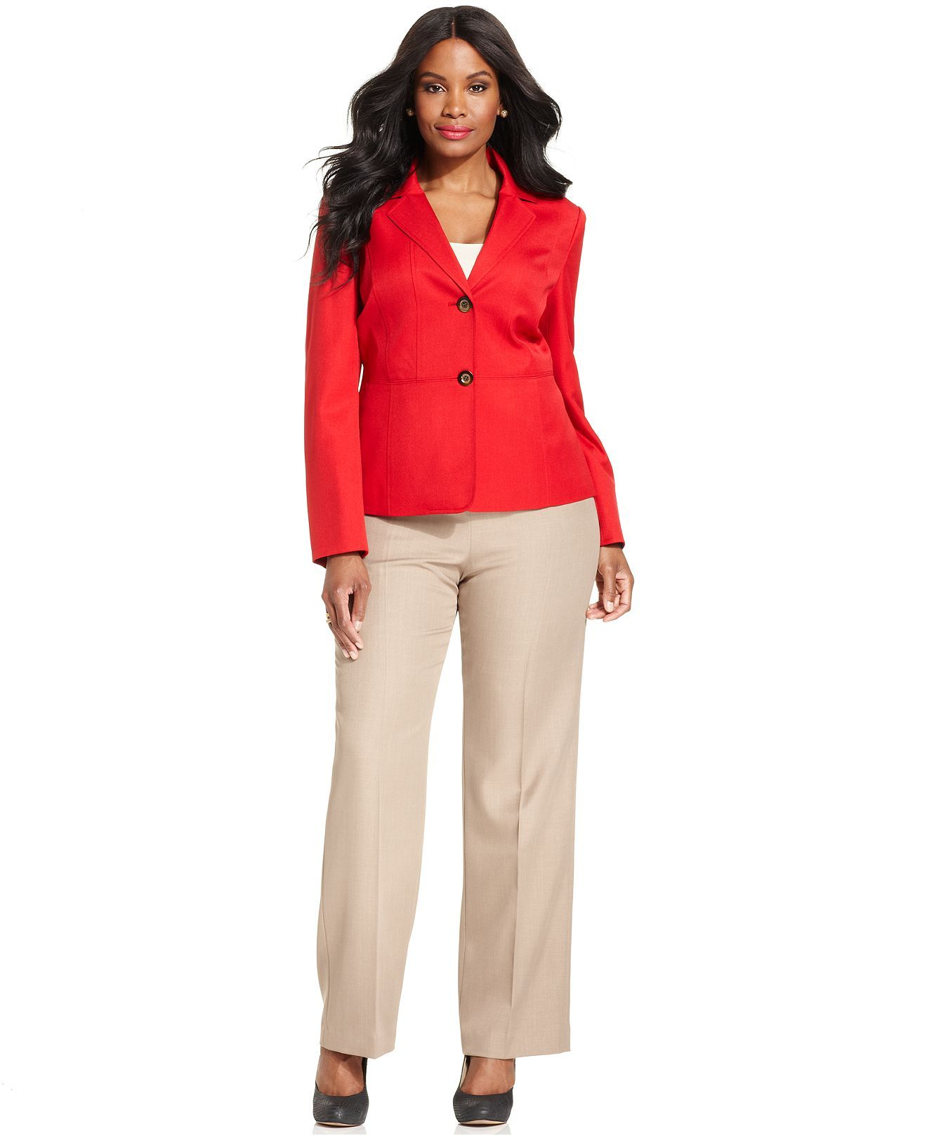 Pin by Jade Morrow on Plus Size Women | Red dress pants, Plus size ...