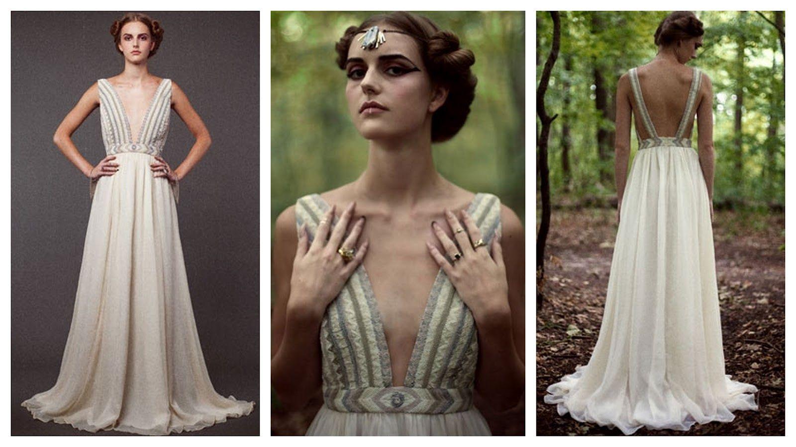 Love The Beading On This Mara Hoffman Wedding Dress