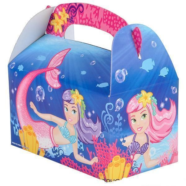 12 Little Mermaid Treat Boxes Birthday Loot Goody Gift Bag