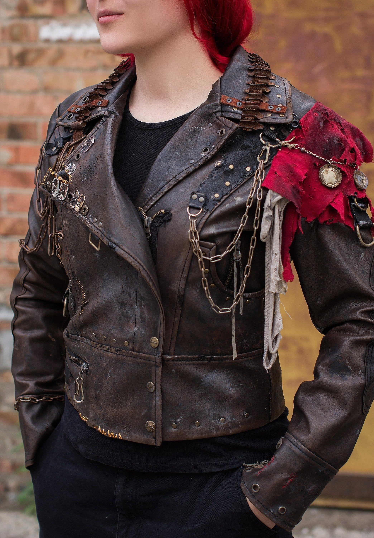 Post Apocalyptic Pleather Jacket Apocalyptic Jacket Larp Festival Vest Fallout Wasteland Post Apocalyptic Costume Cyberpunk Clothes Mechanic Clothes [ 3000 x 2089 Pixel ]