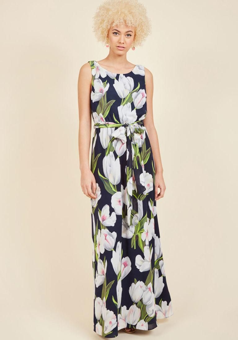 Adorewe modcloth youure flowing places maxi dress in tulips in l