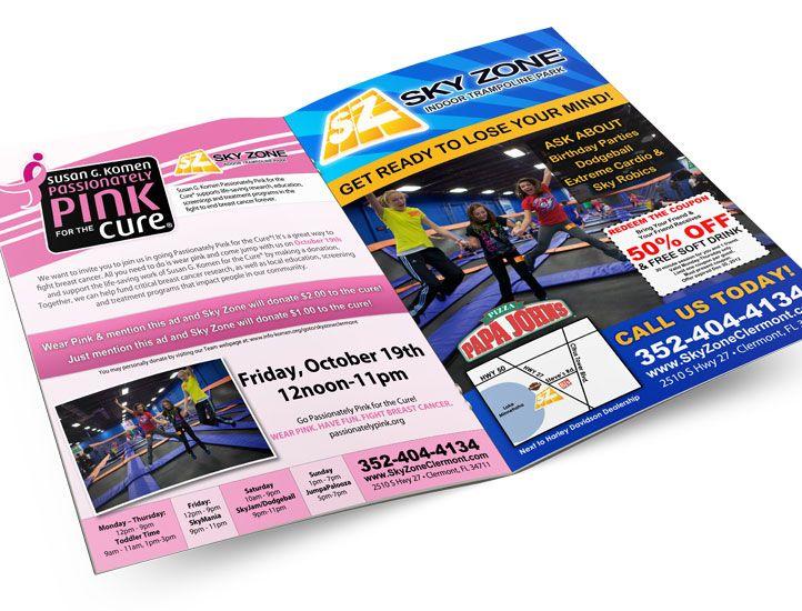 Sky Zone Pink Sale Flyers Sky Zone Sale Flyer Print Design