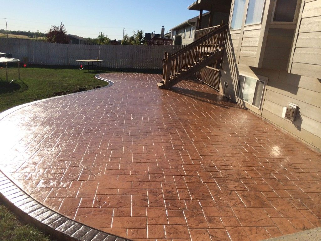 250 square foot stamped concrete patio - Google Search ... on Square Concrete Patio Ideas id=19105