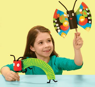 Craft Paper-Plate Butterflies and Caterpillars | Scholastic. Caterpillar CraftVery Hungry ...  sc 1 st  Pinterest & Watch paper plates morph into beautiful butterflies and cute ...
