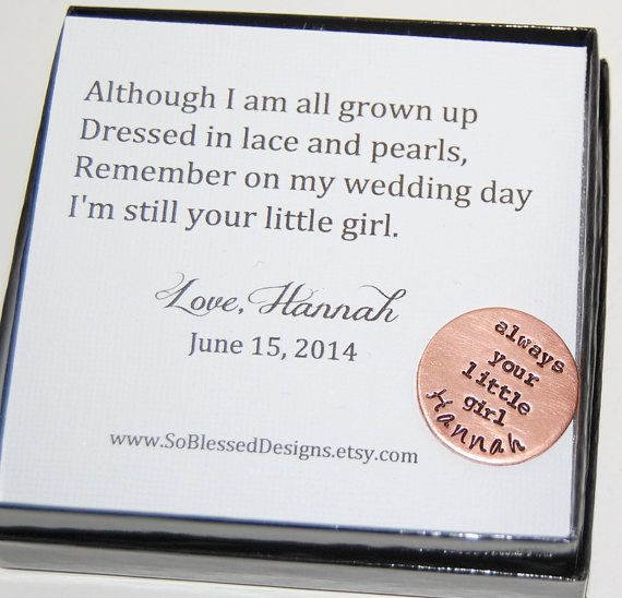 Father Of The Bride Gift With Poem Coin To Dad From Daughter On Wedding Day For Brides