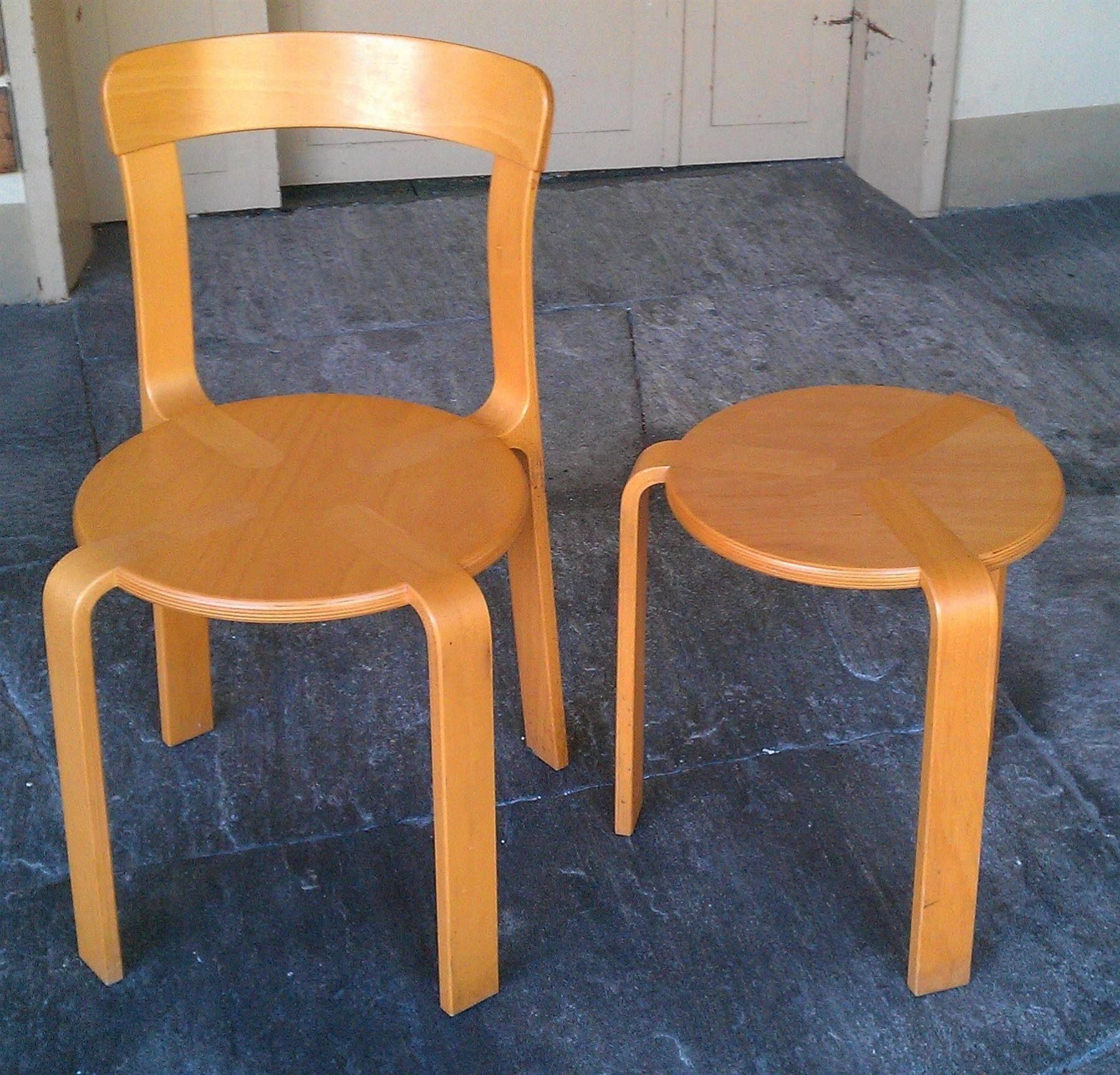 Stuhl und Hocker Simplex Design aus Holz - 12.10.2016 10:16:00 - 1 ...