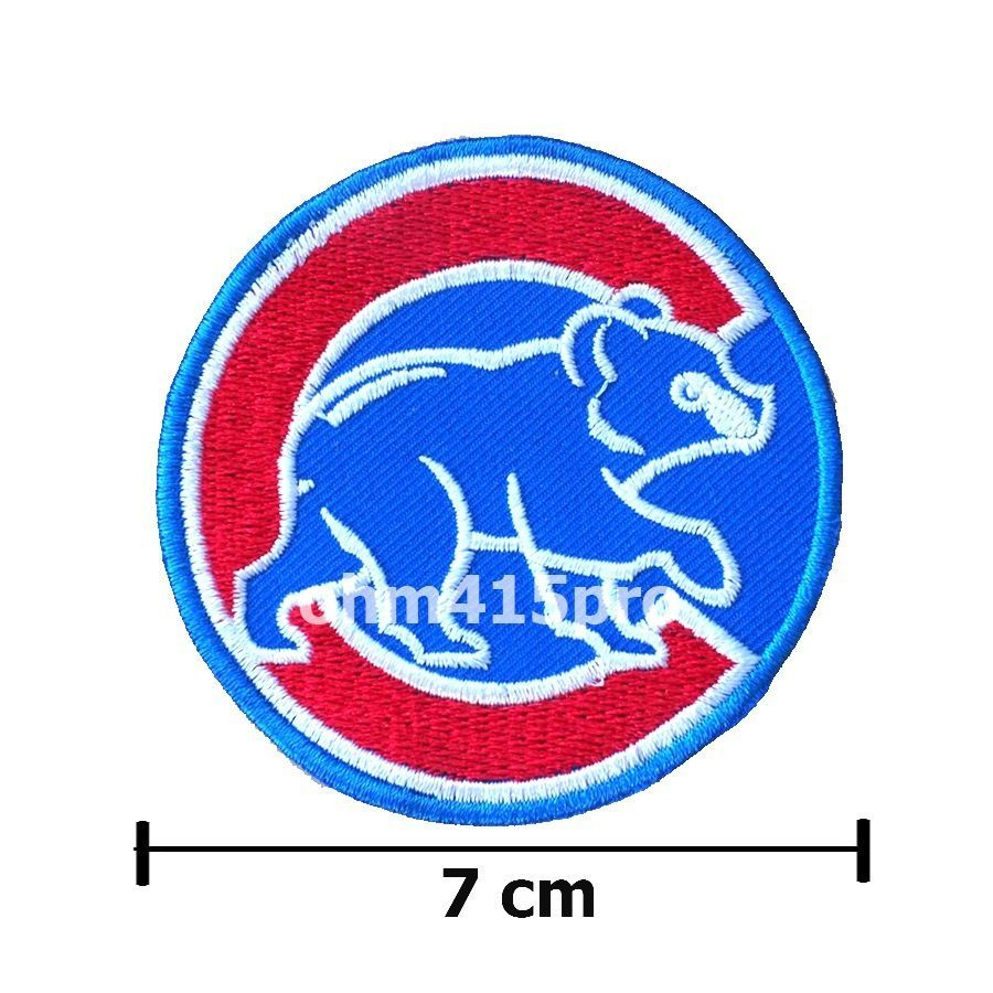 48947cde328 MLB CHICAGO CUBS WALKING CUBBIE BEAR IRON ON PATCHES EMBROIDERED SEW LOGO  TEAM  ChicagoCubs