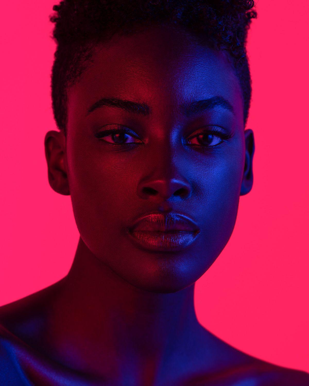 Neon Light Portrait On Behance: Portraits In Color On Behance