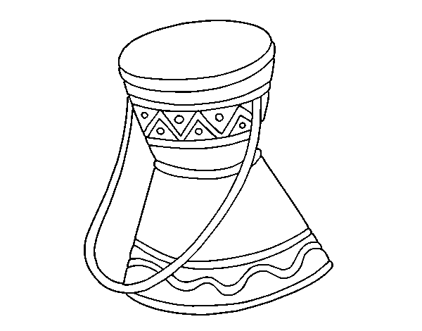 Coloring Page African Drum To Color Online Coloringcrew Com So