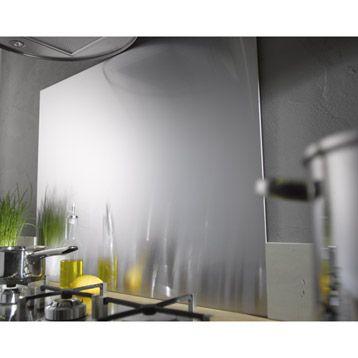 Fond de hotte inox DELINIA 60cmx60cmx11mm Choses à acheter Pinterest - peinture sur pvc fenetre