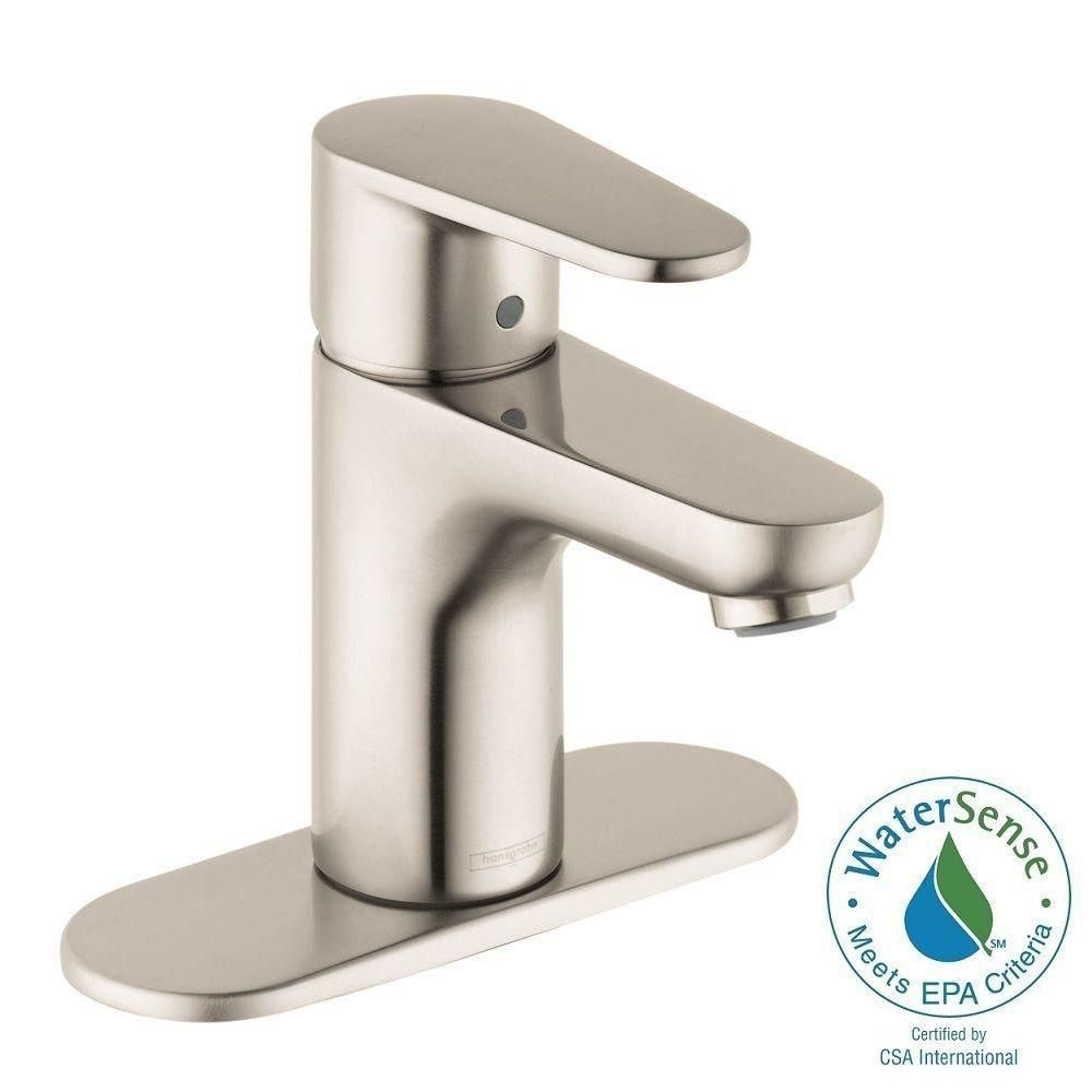 Hansgrohe Talis E2 Single Hole 1 Handle Bathroom Faucet In Brushed