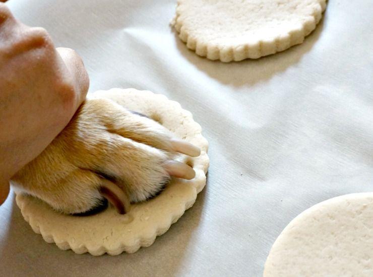 DIY Pup Paw Salt Dough Ornaments - Forks and Folly