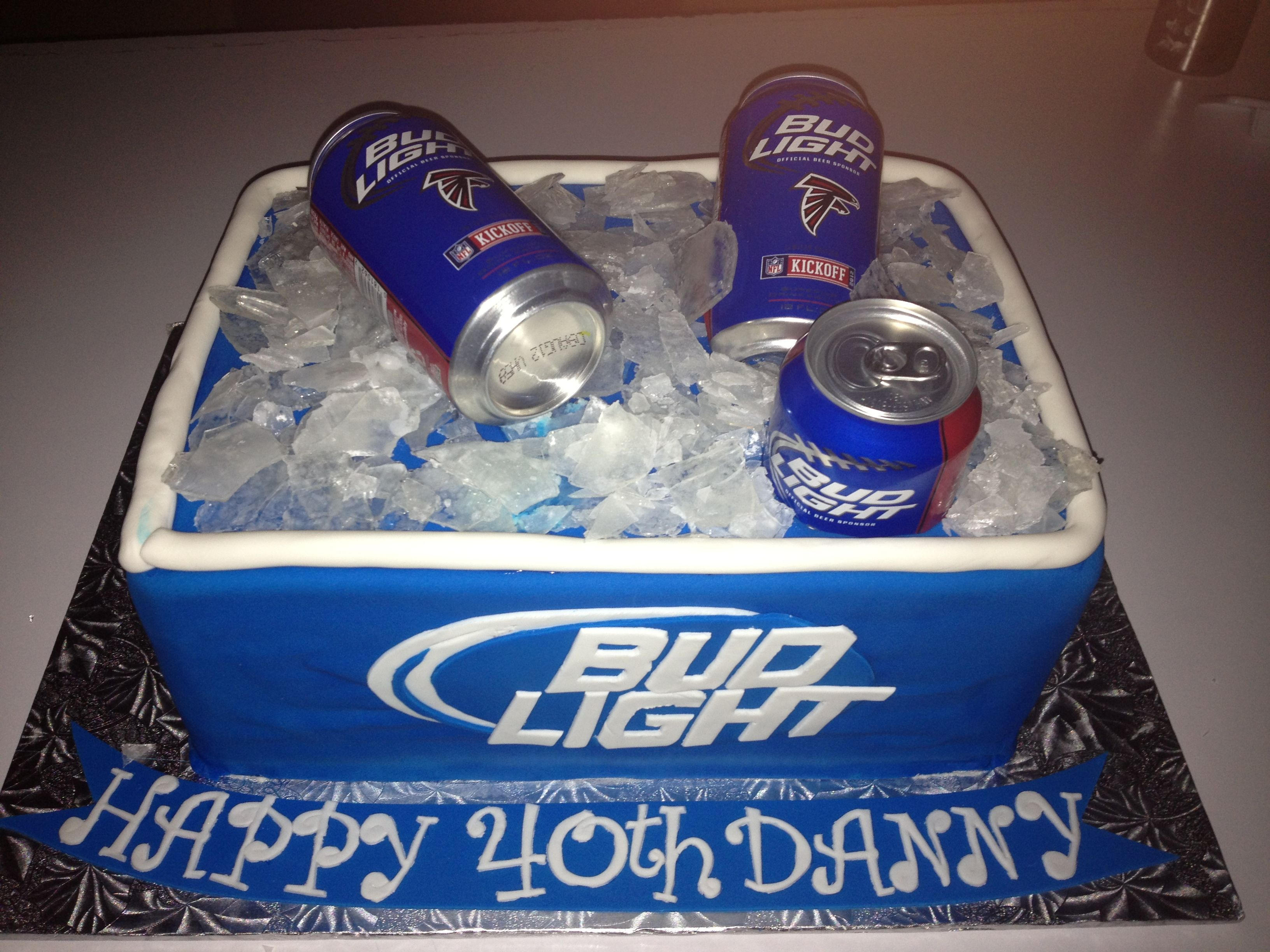 Budlight Beer Can Cake With Images Beer Birthday