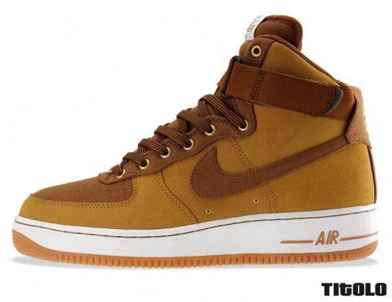 nike air force brown