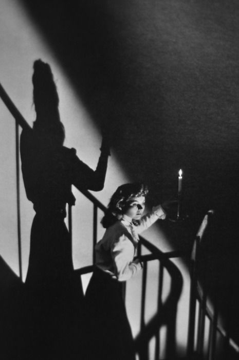 The Spiral Staircase (1945) starring Dorothy McGuire, George Brent, and Ethel Barrymore.