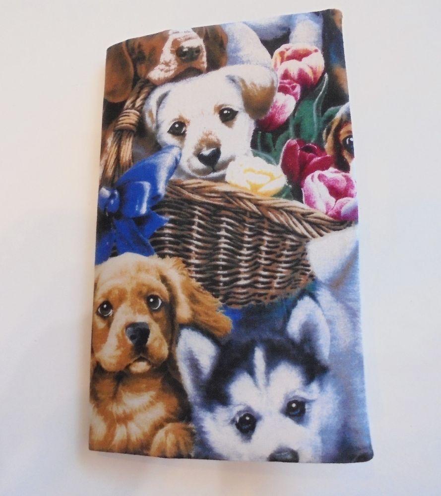 Pocket Planner Puppy Dog Print Fabric