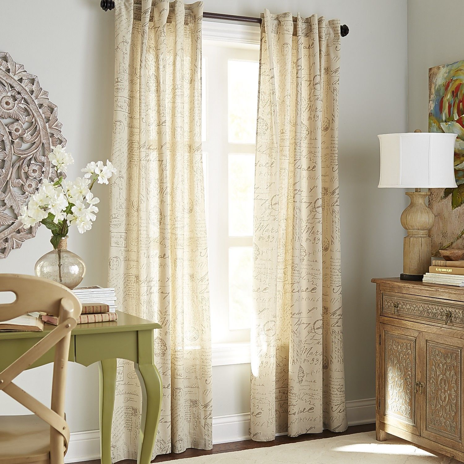 Amelie curtain natural pier imports living room pinterest