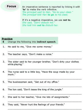Grade 6 Grammar Lesson 13 Direct and indirect speech (5) | Both ...