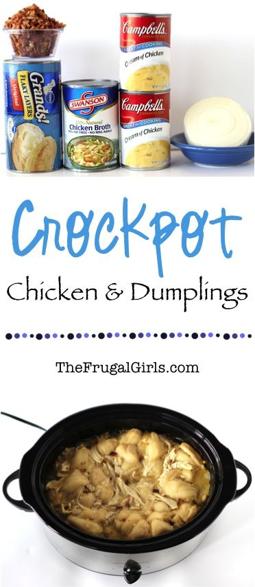 Crockpot Chicken And Dumplings Recipe From Thefrugalgirls Com This Slow Cooker Dinner Is So Easy And The Maximum Comfort Food