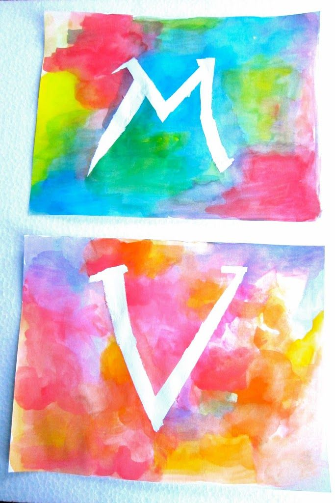Letras Con Acuarela Artividades Ensenar Arte Lecciones De Arte