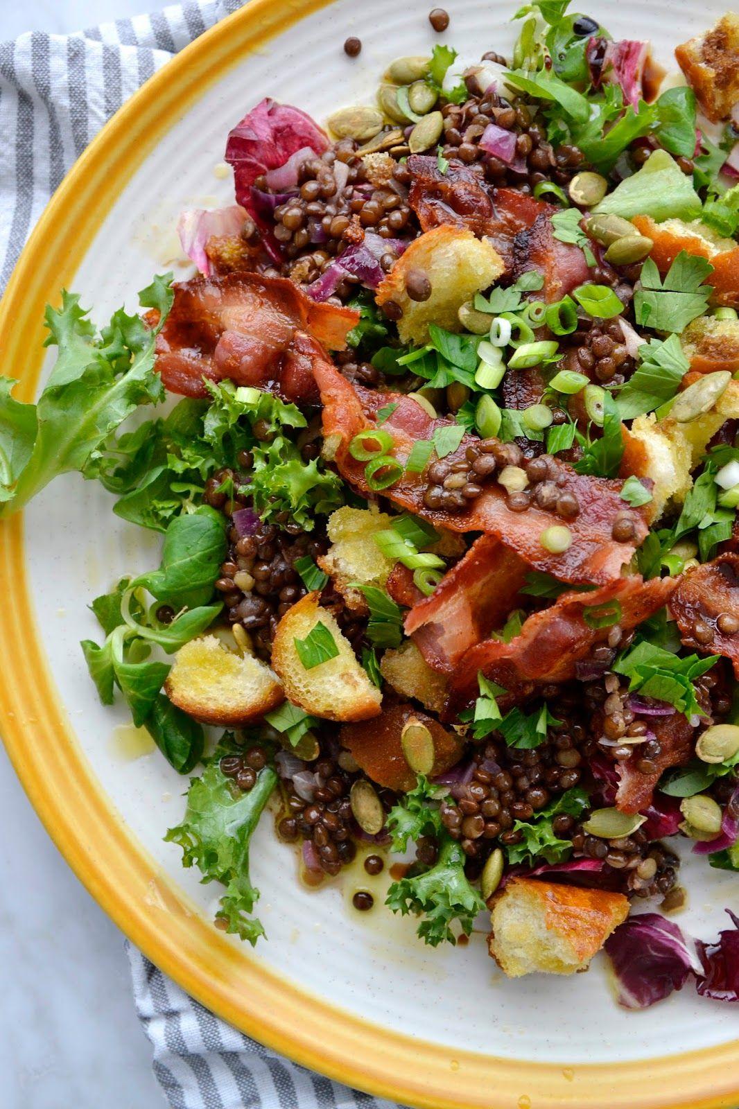 Salade De Lentilles Lardons : salade, lentilles, lardons, Simple, Comme, Salade, Lentilles, Croustillant, Cuisine, C'est, Lentilles,, Recette, Plat,