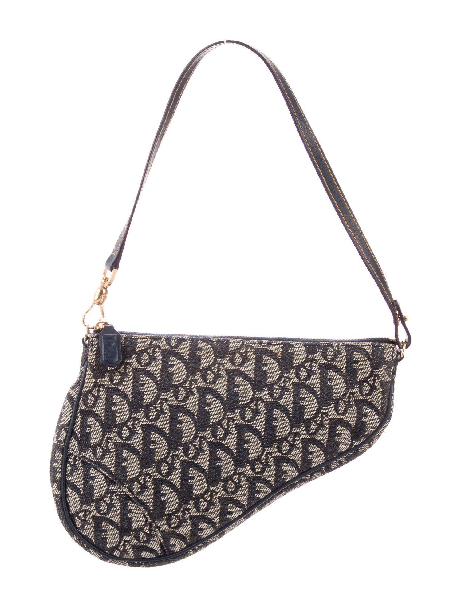 Diorissimo Saddle Pochette Bags Mini Saddle Bags Denim Shoulder Bags
