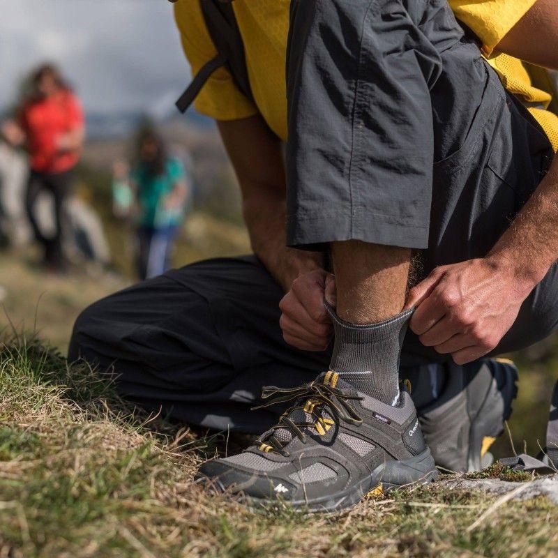 Deportes De Montana Calzado Forclaz 100 Wtp Gris Ocre Quechua Calzado Hiking Boots Boots Vibram Sneaker