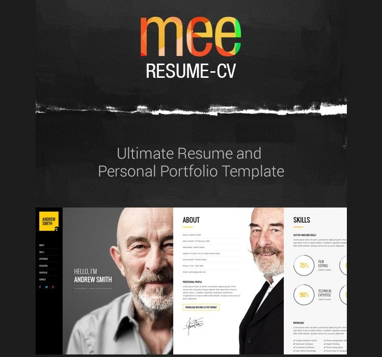41 HTML5 Resume Templates Free Samples Examples Format Download
