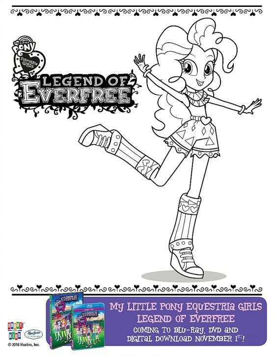 Free My Little Pony Equestria Girls Everfree Coloring Page Kids - new coloring pages girl games