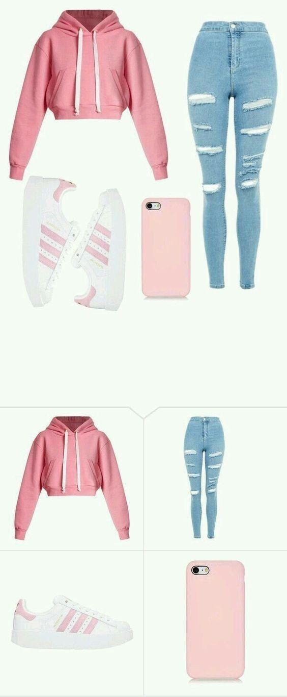 18 Outfits für Teenager für Schule & Damenmode für die Arbeit - Mode Frauen 60 #trendyoutfitsforschool