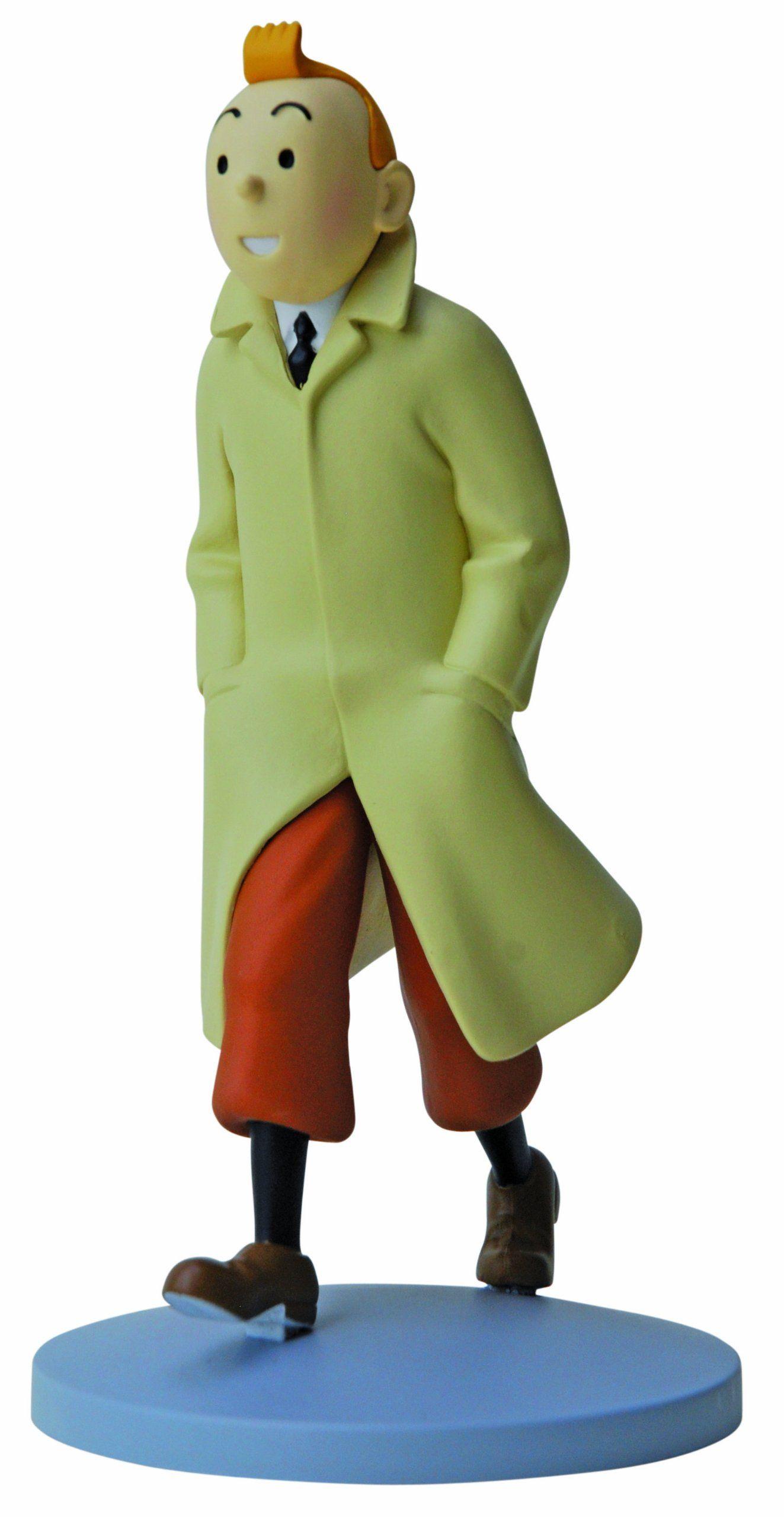 Tintin Figurines Officielle # 1 Tintin in Coat Herge model Moulinsart Figure