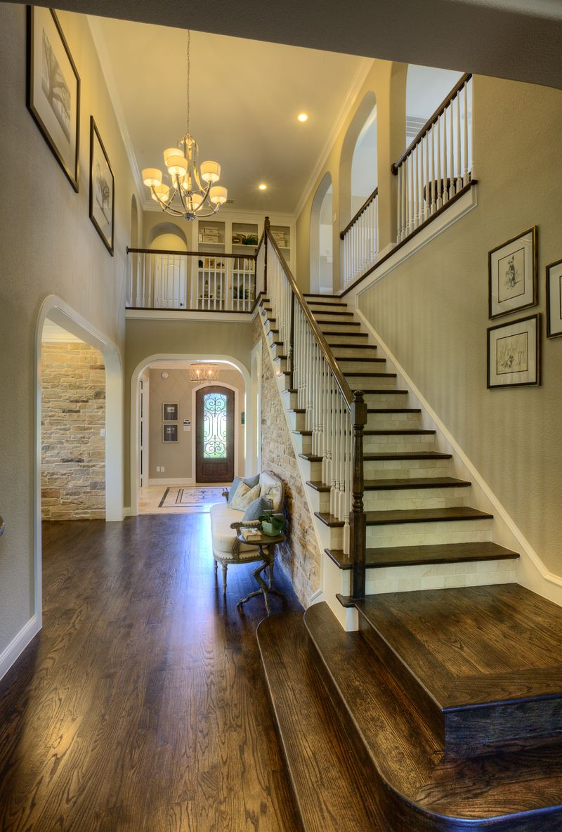 Stunning, modern, open floor plan with cascading staircase ...