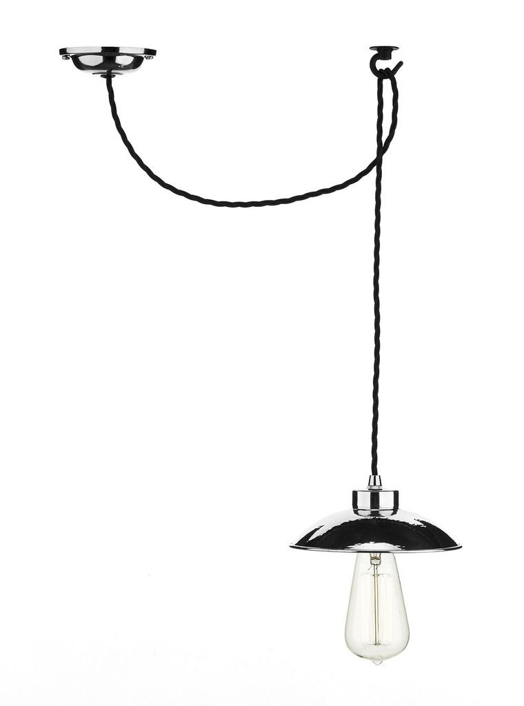 Dar DAL0150 Dallas 1 Light Pendant Polished Chrome in 2019