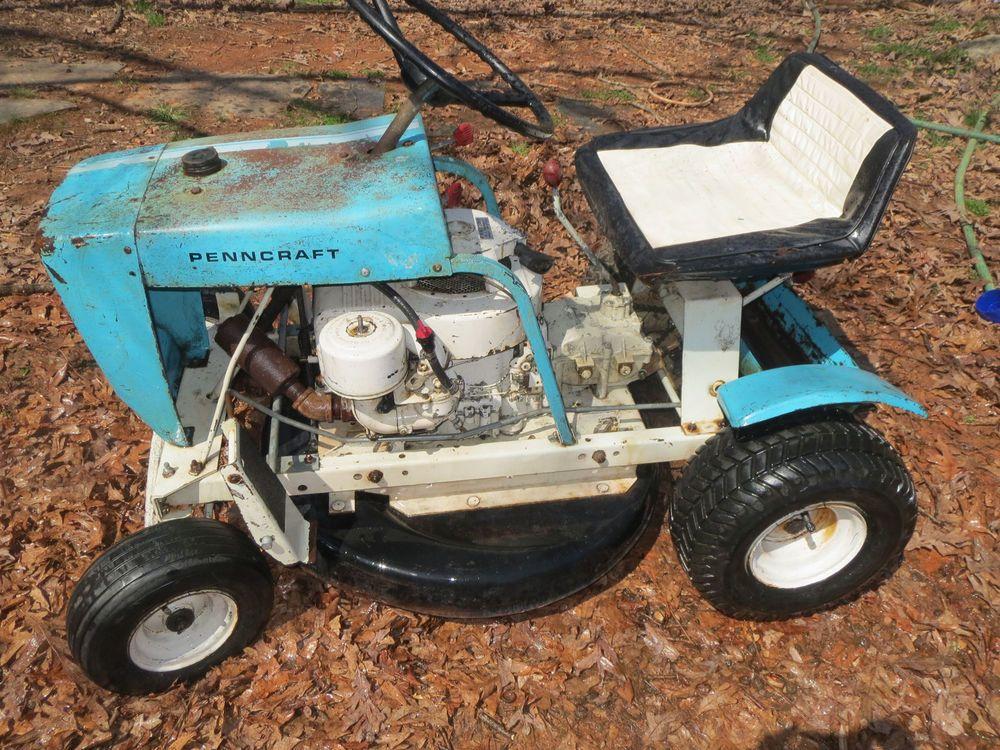 Vintage Penncraft Riding Lawn Mower | eBay | Tractors & Mowers