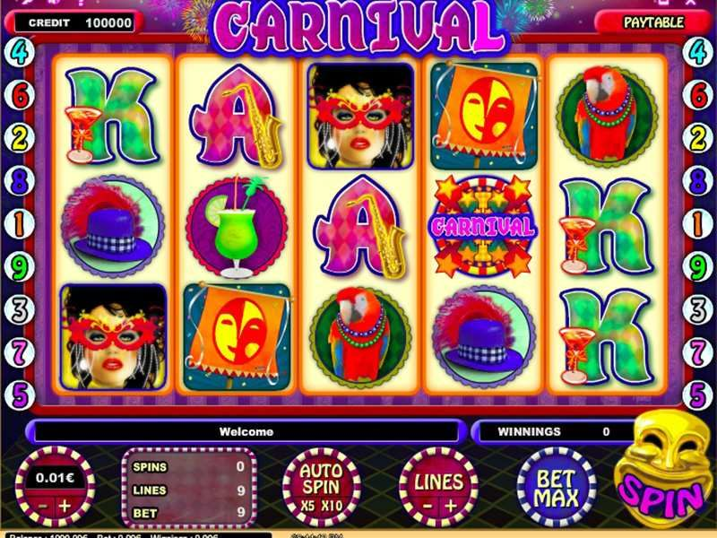 Wonderful Slot Features With the Slot Machines Carnival