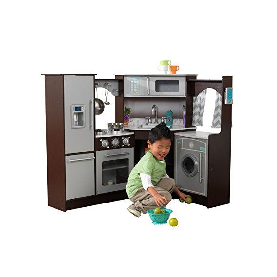 Kidkraft 53365 Ultimate Corner Kitchen Playset With Lights