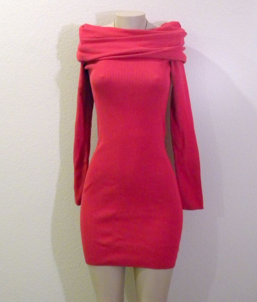 NWOT VICTORIA'S SECRET OFF SHOULDER KNIT DRESS, COWL NECK SWEATER ...